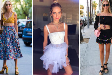Dal profilo Instagram di @chiaraferragni. Crop top + gonna: il mix più cool dell'estate. 6 abbinamenti per 6 look