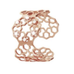 Anello Stroili Secret Lace, in ottone rosato e zirconi