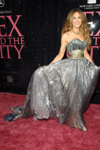 Sarah jessica Parker in Nina Ricci alla prima del film Sex and the City nel 2008