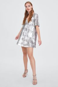 Minidress a tunica full paillettes, Zara