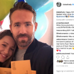 Blake Lively e Ryan Reynolds in uno scatto del quotidiano. Dal profilo Instagram